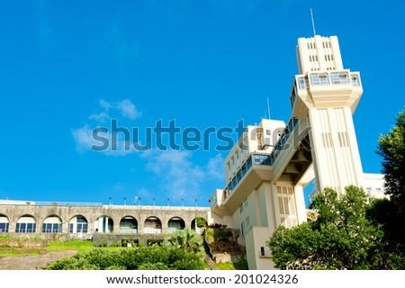 Lacerda Elevator, downtown, Salvador, Bahia - stock photo