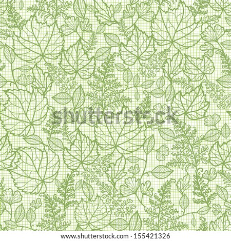 Lacey leaves lineart texture seamless pattern background raster