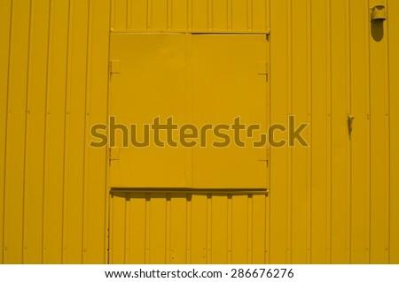 lacquered metallic panels - stock photo