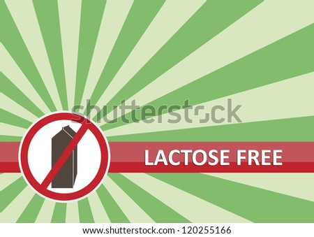 Lactose free banner for food allergy concept