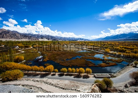 Ladakh in Indian Himalayas, Himachal Pradesh, India - stock photo