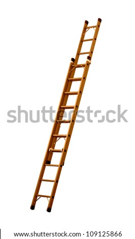Ladder (Clipping path!) - stock photo