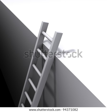 ladder from abyss - stock photo