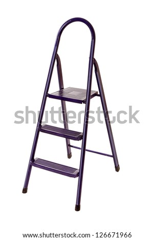 ladder isolated - stock photo