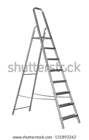 Ladder isolated on the white background - stock photo
