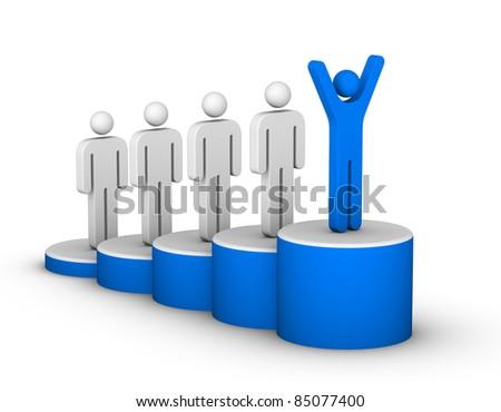 Ladder of Success - stock photo