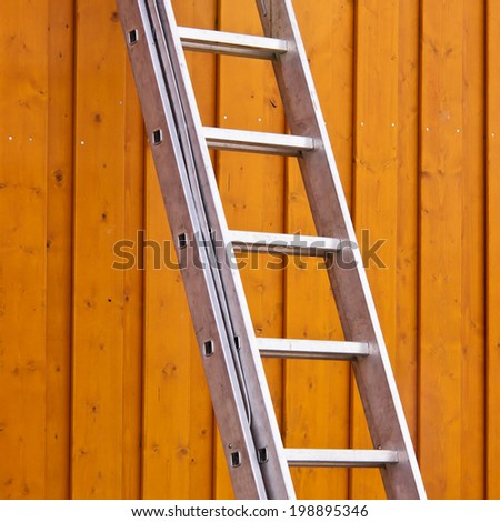ladder on the wall 6 - stock photo