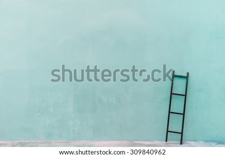 ladder on  the wall for background. - stock photo