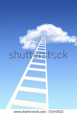 Ladder  to sky - stock photo