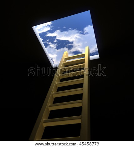 Ladder to the Heavens - stock photo