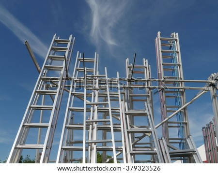 Ladders into sky - stock photo
