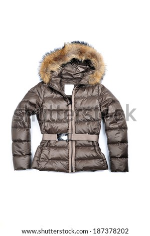 Ladies dark jacket with a hood