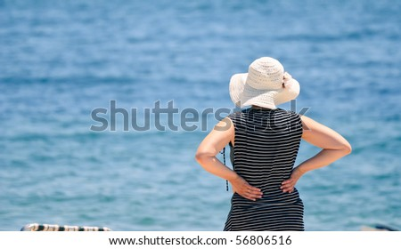 Lady at the beach