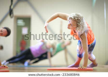 Lady fitness classes - stock photo