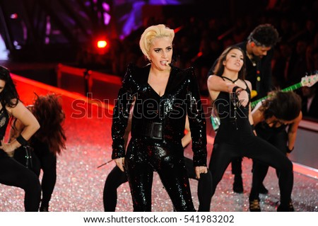 Lady Gaga performs at the Victoria's Secret Fashion Show in Paris, France on November 30, 2016