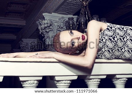 lady in the palace - stock photo