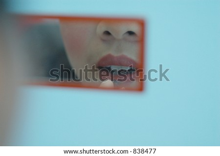 lady make-up - stock photo