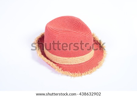 lady's hat isolated on white - stock photo