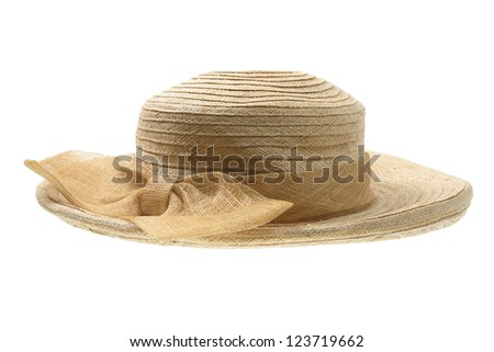 Lady's Hat on White Background - stock photo