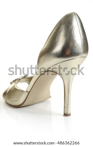 Lady shoe, studio isolated on white background