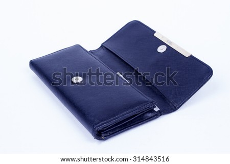 lady wallet on the white background.