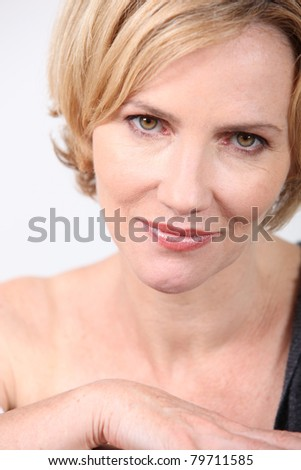 lady with golden eyes - stock photo