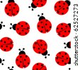 ladybug seamless pattern, abstract texture; art illustration; for vector format please visit my gallery - stock photo