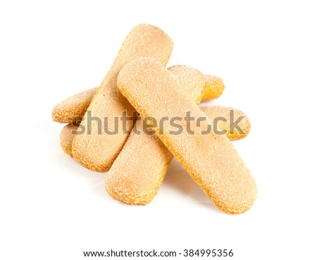 ladyfingers cookies isolated on white - stock photo
