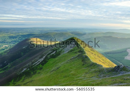 Ladyside Pike in summer in the English Lake District - stock photo