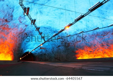Laerdal Tunnel in Norway, the longest road tunnel in the world