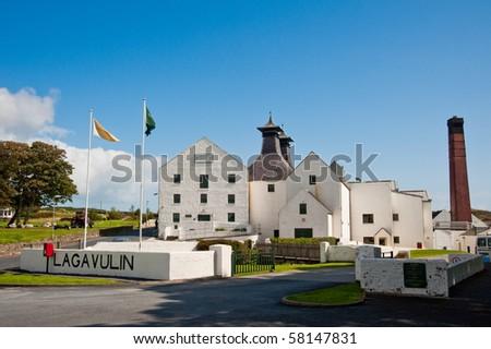 Lagavulin distillery on Islay, Scotland - stock photo