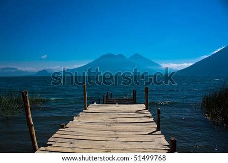 Lago de Atitlan, Guatemala - stock photo