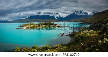 Lago Pehoe in National Park Torres del Paine