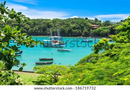 Lagoon in Buzios, Rio de Janeiro. Brazil - stock photo