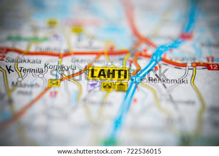 Lahti On Map Stock Photo 722536015 Shutterstock