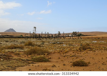 Lajares is a little town in fuerteventura island - stock photo