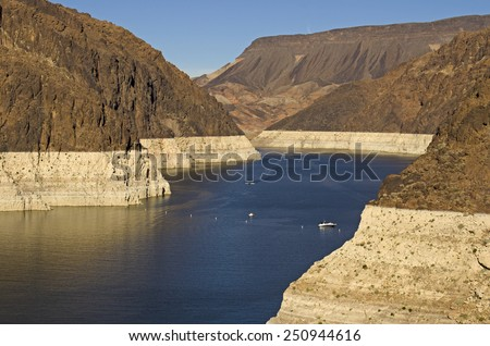 Lake above the Hoover Dam at Lake Mead National Recreation Area