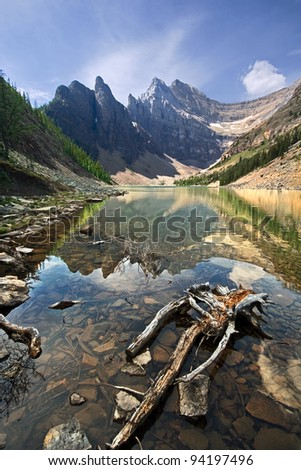 Lake Agnes, Near Lake Louise, Banff National Park, Alberta, Canada - stock photo