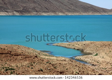 Lake al-hassan addakhil in Errachidia Morocco - stock photo
