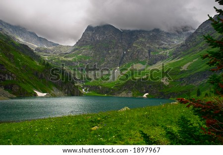 Lake and mountains. Altay. Russia. - stock photo