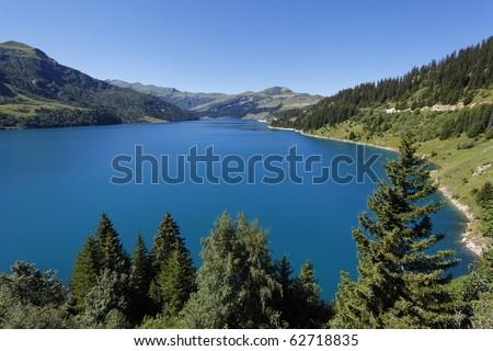 lake and tree - stock photo