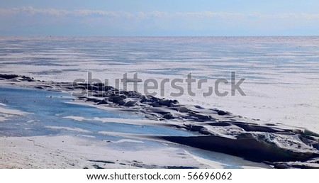 Lake Baikal. Winter. Day.