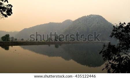 Lake Begnas, Nepal - stock photo