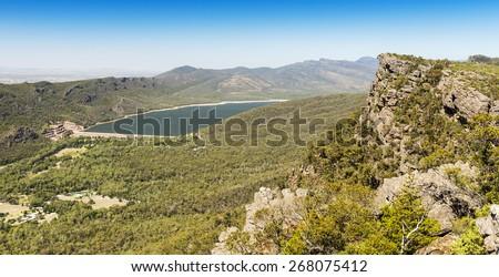 Lake Bellfield in the Grampians National Park, Victoria, Australia - stock photo