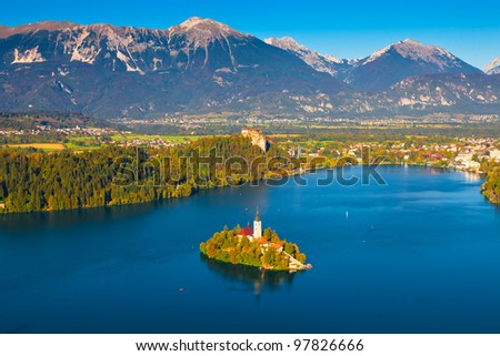 Lake Bled in Slovenia - stock photo