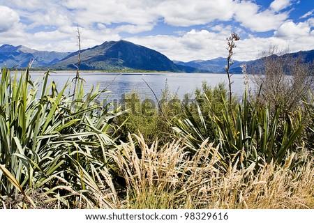Lake Brunner, New Zealand - stock photo