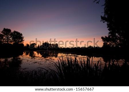 Lake Claremont Sunset - stock photo