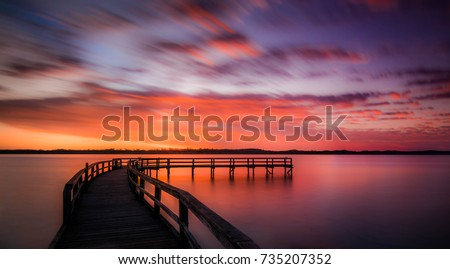 Lake Clifton sunset Western Australia