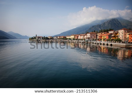 Lake Como Photography: View of Gravedona in Summer