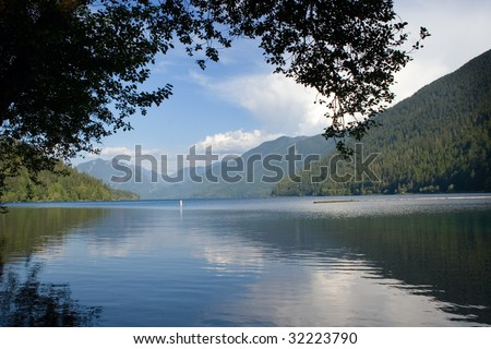 Lake Crescent, Olympic peninsula, Washington - stock photo